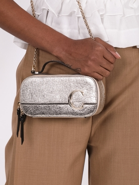 Mini C Vanity Bag, Silver