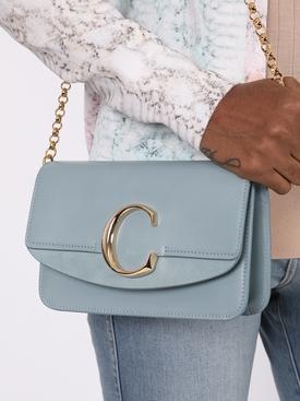 """C"" Clutch, Faded Blue"
