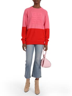 Givenchy - Two-tone Logo Cashmere Sweater Pink - Women