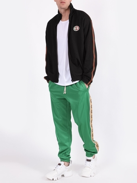 Logo tape jogger pants CLOVER GREEN