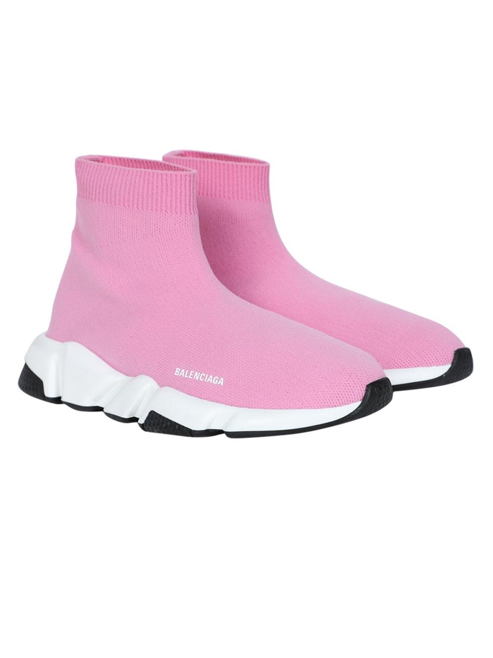 Kids Speed Sock High Top Sneakers Pink