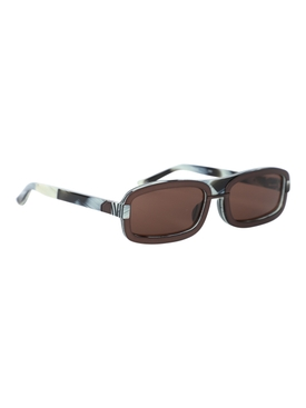 x Y Project Brown Rectangular Sunglasses
