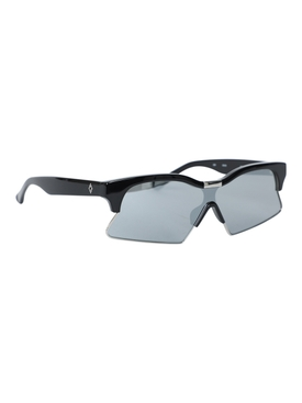 x Marcelo Burlon Black and silver oversized sunglasses