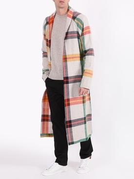 Tartan Print Overcoat