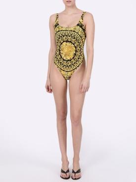 Baroque print swimsuit