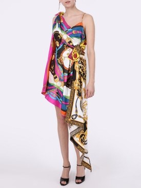 Silk multi-print dress
