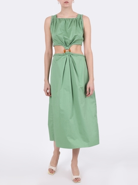 ROWBOAT MIDI DRESS