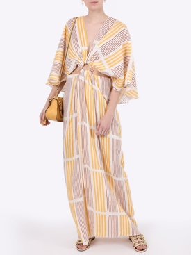 Striped linen paradise dress