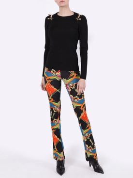 Multicolored flared pants