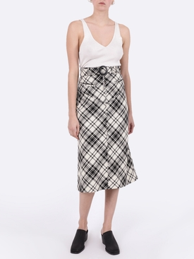 Check print matango skirt