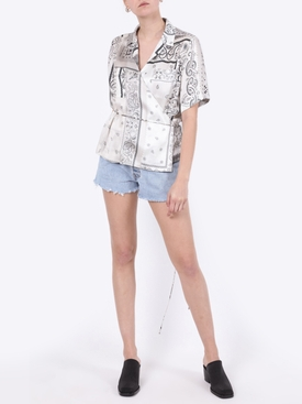 Silk bandana print top