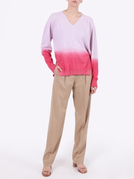 Pink and purple cashmere sweater