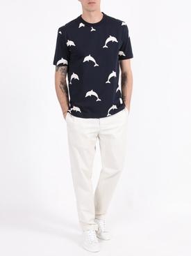 Dolphin print t-shirt NAVY