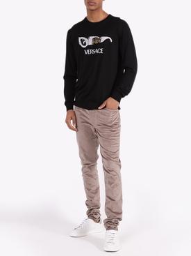 Embellished graphic logo sweatshirt