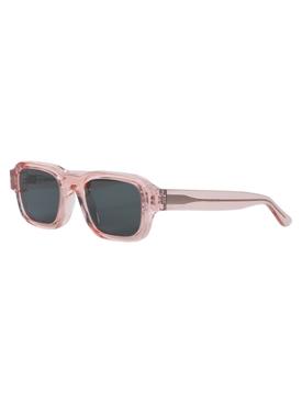 Clear Pink Rectangular Sunglasses