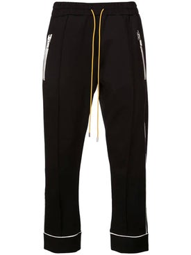 Rhude - Contrasting Trim Track Pants Black - Men