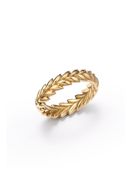 ETHEREAL GOLD LAUREL WEDDING BAND