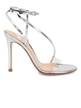 Gianvito Rossi - Silver Strappy Sandals - High Sandals