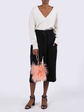 OSTRICH FEATHER SHOULDER BAG PINK