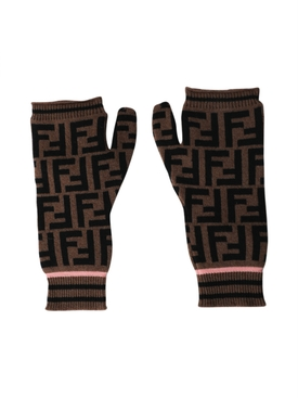 Fendi - Ff Logo Print Gloves - Women