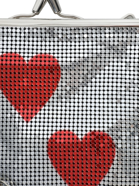 Red Hearts Pixel Frame 1969 Mesh Bag