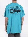 Off-white - Wavy Logo T-shirt Blue - Men