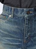 Saint Laurent - Cut-off Denim Shorts - Women