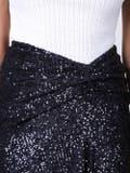 Sies Marjan - Navy Sequin Wrap Skirt - Women