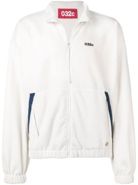 032c - White Zipped Sweatshirt - Men