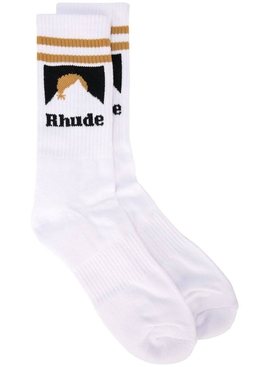 Rhude - White Mountain Logo Sock - Men