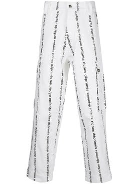 Enfants Riches Deprimes - White Logo Striped Pants - Men