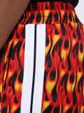 Palm Angels - Flame Print Track Shorts - Men