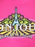 Balenciaga - Bonjour Logo T-shirt Pink - Women