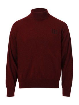 Deep Red Classic Turtleneck