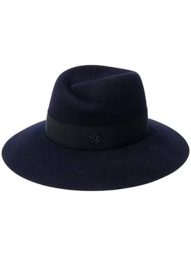 Navy Virginie Fedora Hat