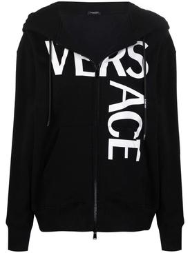 Multilogo zip hooded jacket