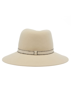 Neutral Virginie fedora hat