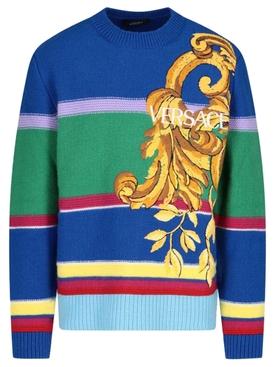 Striped Barocco Knit Sweater