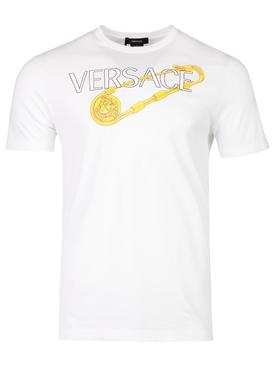 Safety Pin Logo T-shirt White