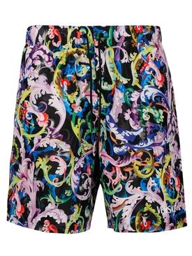 Baroccoflage Print Swim Shorts