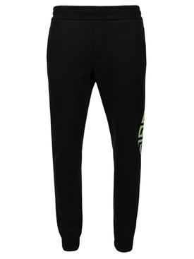 Greek graphic print jogger pants black