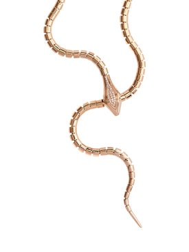 Sidney Garber - Rose Gold Snake Lariat Necklace - Women