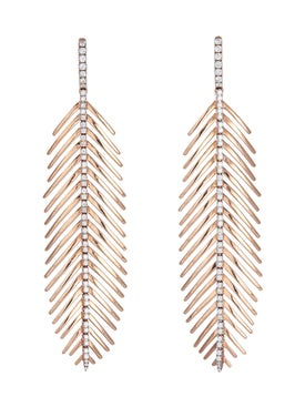Sidney Garber - Rose Gold Feather Earrings - Women
