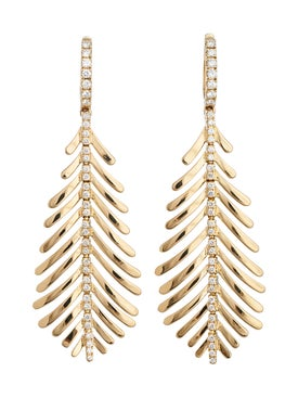 Sidney Garber - 18kt Gold Feather Earrings - Women