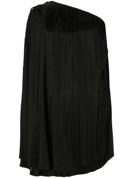 single sleeve fringed dress