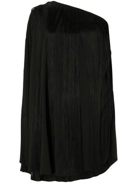 Saint Laurent - Single Sleeve Fringed Dress - Women