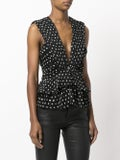 Saint Laurent - Gathered Sleeveless Blouse Black - Women