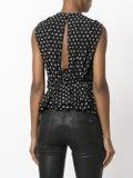 Saint Laurent - Gathered Sleeveless Blouse Black - Women