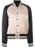 Saint Laurent - Striped Trim Bomber Jacket - Women