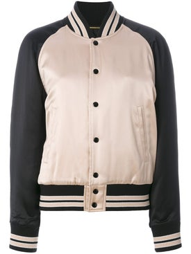 Saint Laurent - Striped Trim Bomber Jacket - Women